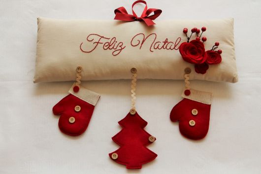 enfeites para porta de Natal simples