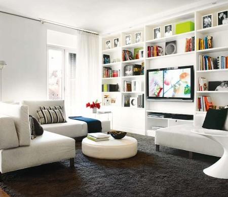 estante para sala branca TV