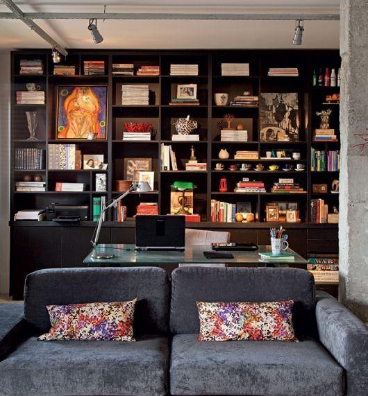 estante planejada para sala de estar