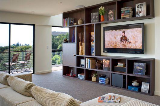 modelo de estante para sala de TV