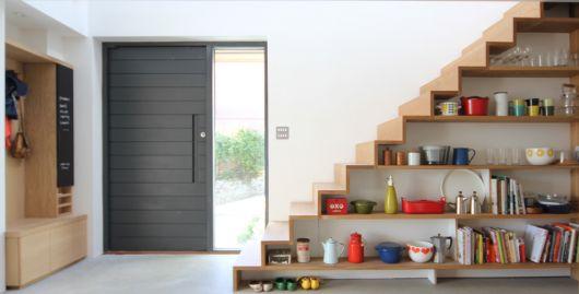 estante para sala escada