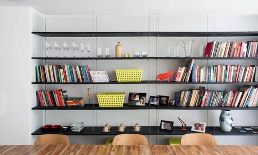 estante para sala de jantar suspensa