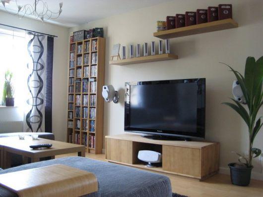 estante para sala de TV e rack