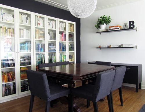 estante para sala de jantar livros