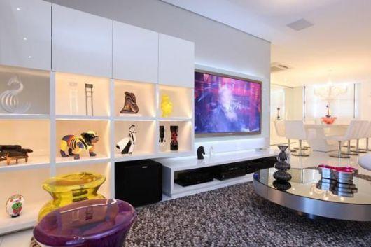 estante para sala decoração branca