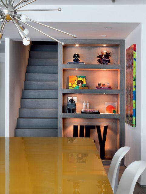 estante para sala concreto