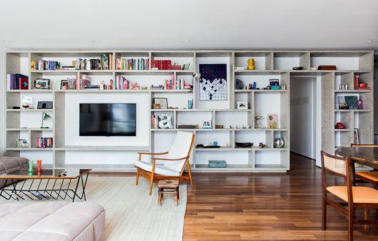 estante para sala grande TV