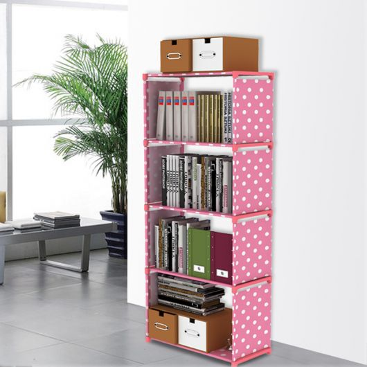 estante para sala rosa