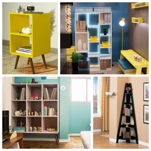 estante para sala - modelos pequenos