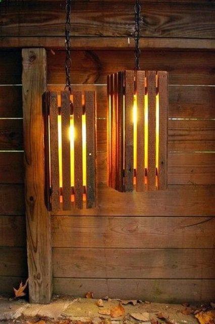 luminária de madeira pendente rústica