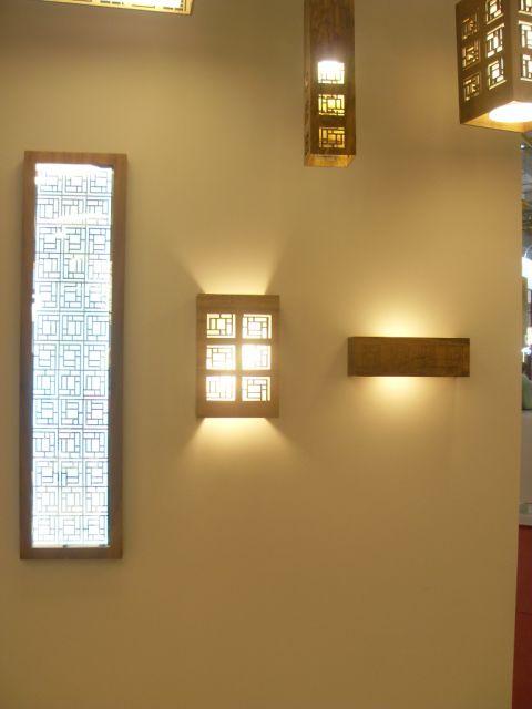 luminária de madeira de parede sofisticada