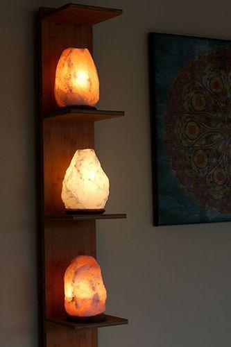 luminária artesanal de madeira parede