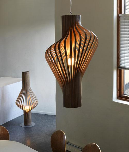 luminária de madeira pendente clássica