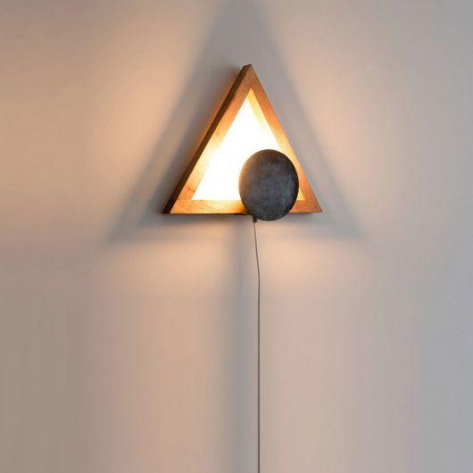 luminária de madeira de parede moderna