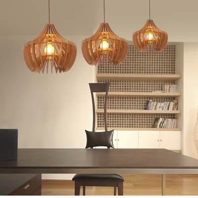 luminária de madeira pendente tamanhos