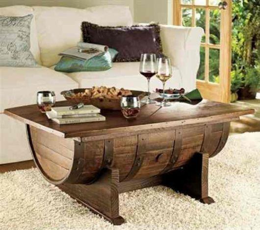 Mesa de centro de madeira dicas de decora o 60 - Modelos de mesa de centro ...