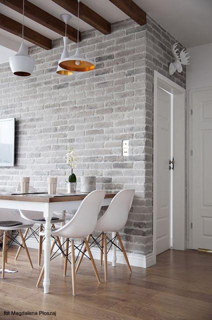 Papel de parede de tijolinho 70 ideias maravilhosas de for Suelo 3d blanco