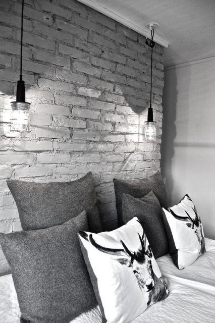 papel de parede tijolinho cinza