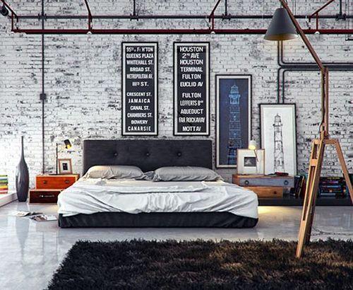 papel de parede tijolinho quarto cinza