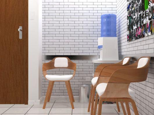 papel de parede de tijolinho escritório