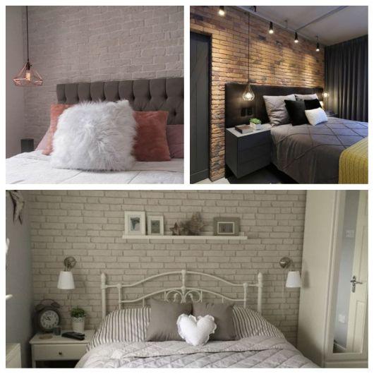 quartos aconchegantes com papel de parede de tijolinhos