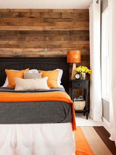 parede de madeira para quartos