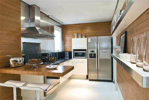 parede de madeira em cozinhas