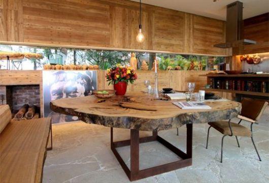 parede de madeira estilo rústico