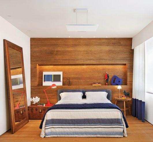 parede de madeira revestimento para quarto