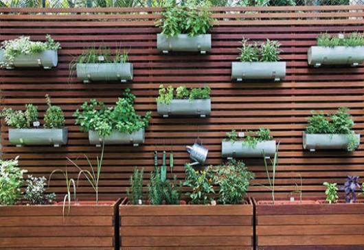 parede de madeira vazada varanda