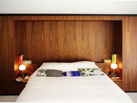parede de madeira dica para o quarto