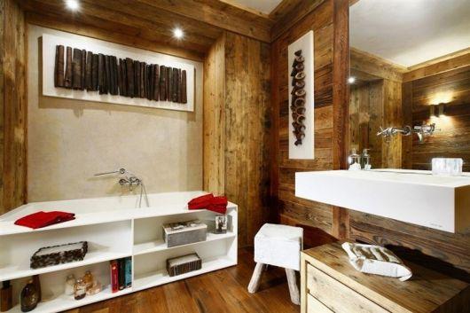 parede de madeira rústica decoração