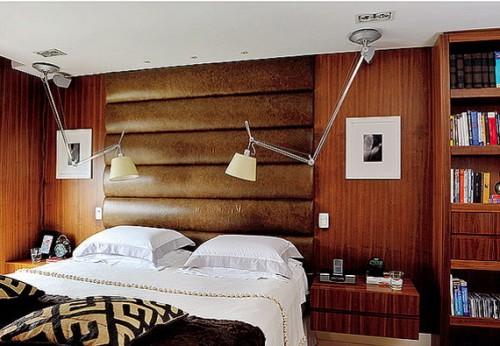 parede de madeira nos quartos