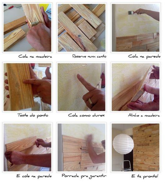 passo a passo parede de madeira