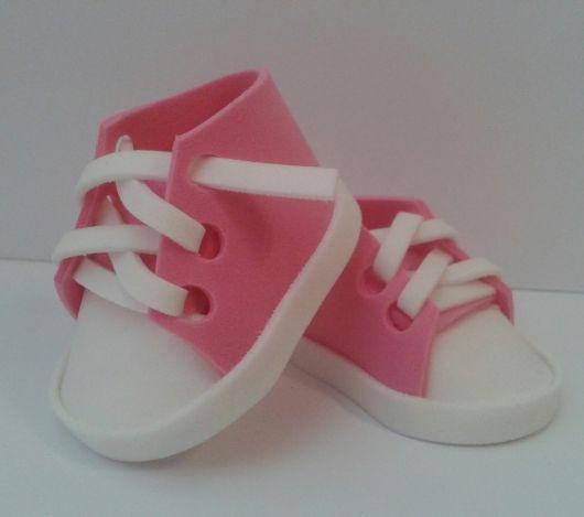 sapatinho de eva tenis rosa