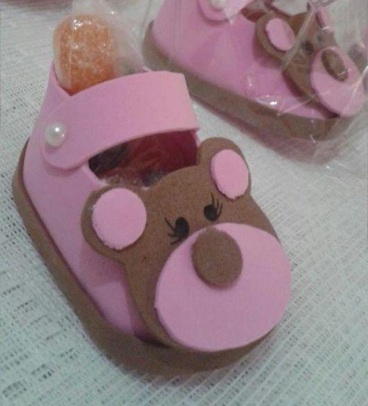sapatinho de eva rosa ursinho