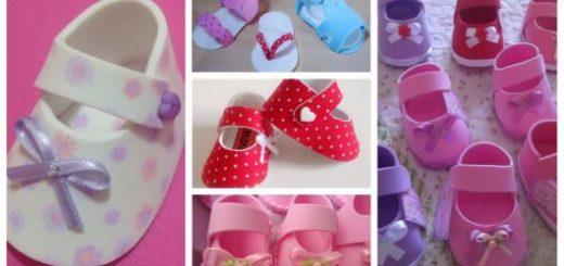 modelos de sapatinhos de EVA