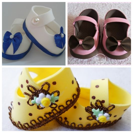 modelos de sapatinho de eva coloridos