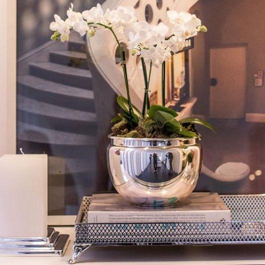 vaso espelhado redondo para decorar