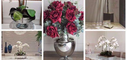 como decorar com vaso espelhado