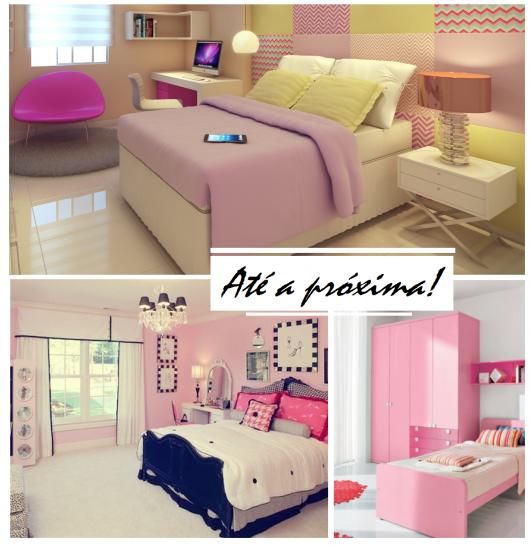 ilustração final do post com modelos de quartos femininos modernos.