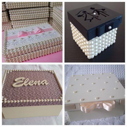 decoração de caixas com pérolas
