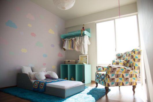 cama cinza decoração