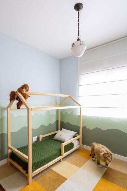 quarto montessori decoração safári