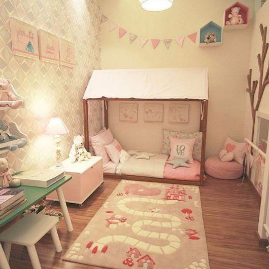 decoração rosa quarto