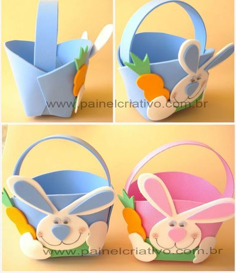 cestinha de coelhos