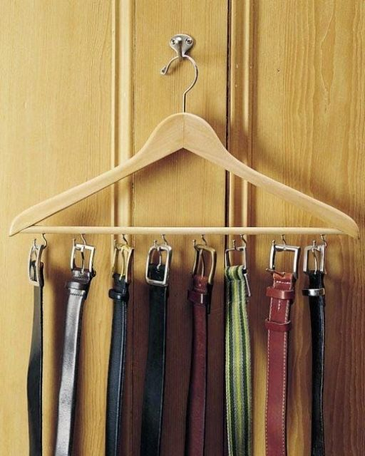como organizar guarda-roupa cinto
