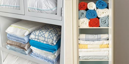 como organizar guarda-roupa toalhas