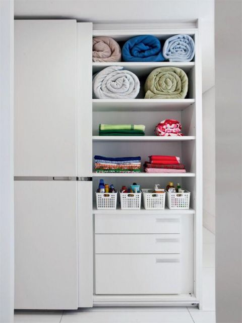 como organizar guarda-roupa cobertores