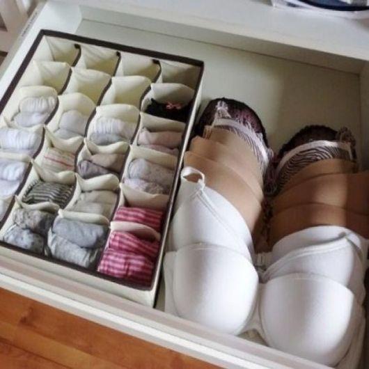 como organizar guarda-roupa lingeries